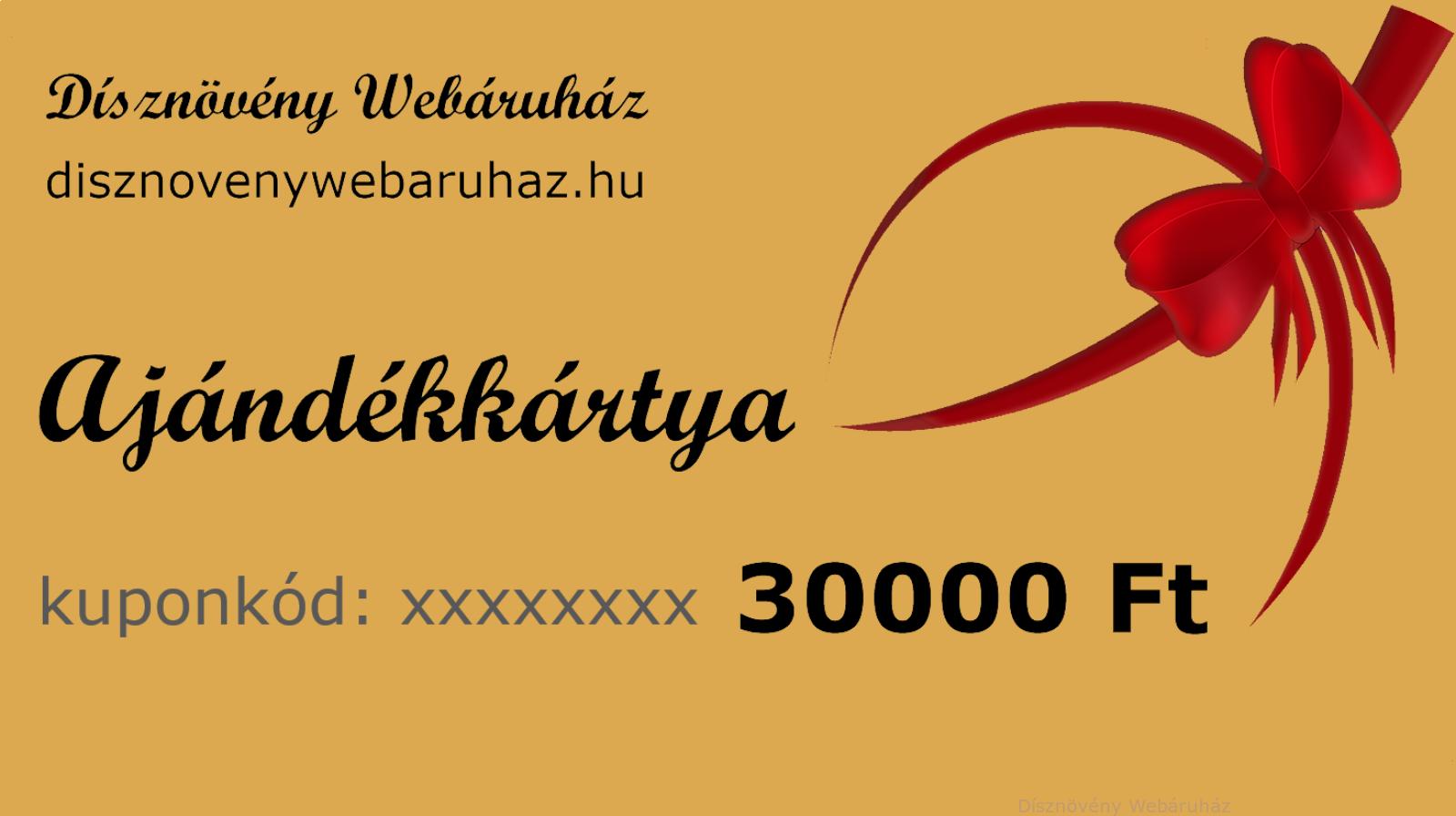 Image of ARANY díszkerti ajándékkártya