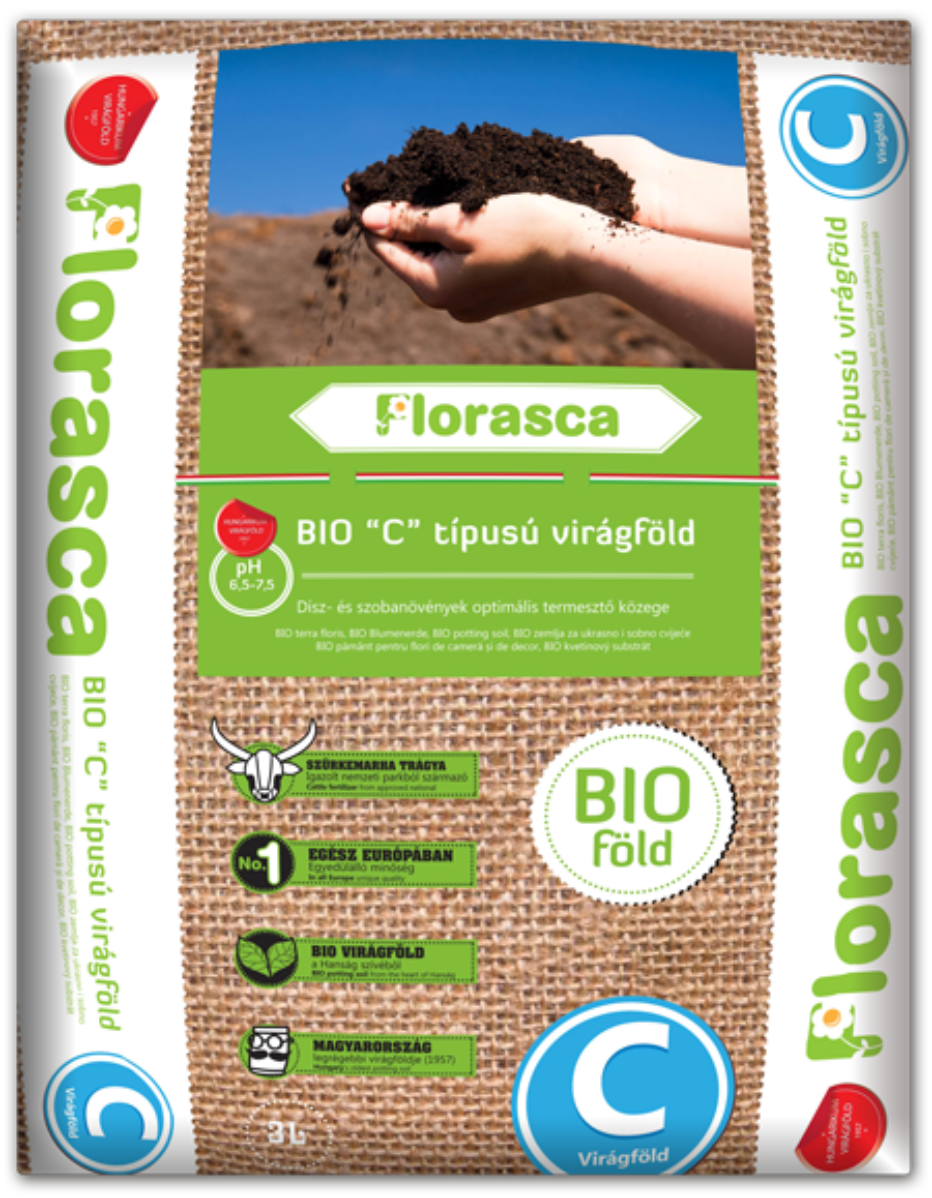 'C' típusú Florasca biovirágföld - 40l