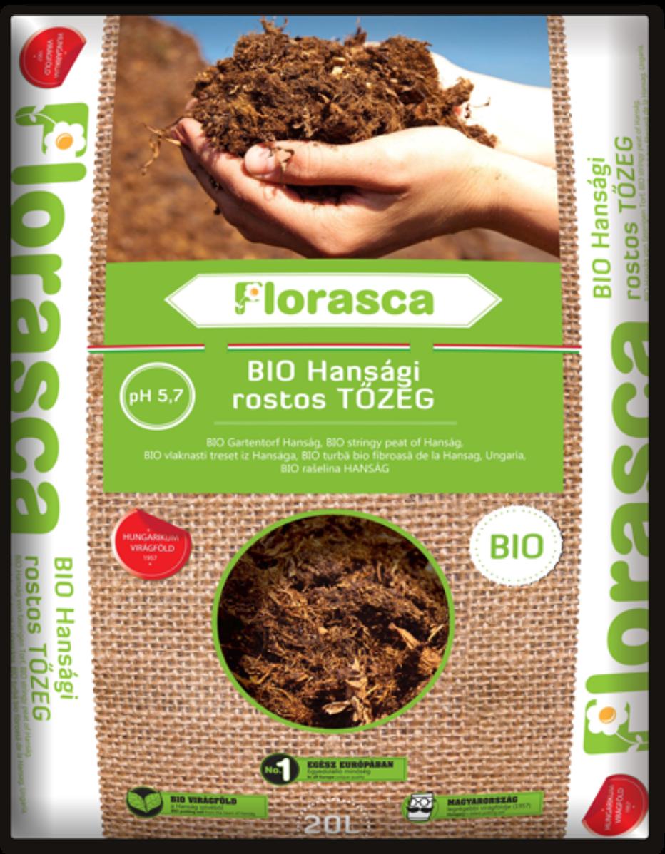 Florasca hansági rostos biotőzeg - 20l
