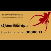 Arany díszkerti ajándékkártya 30000 Ft értékben