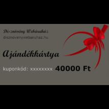 Platina díszkerti ajándékkártya 40000 Ft értékben