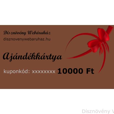 Bronz díszkerti ajándékkártya 10000 Ft értékben