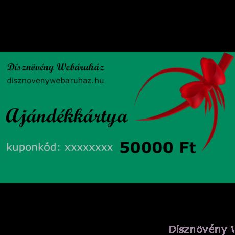 Smaragd díszkerti ajándékkártya 50000 Ft értékben