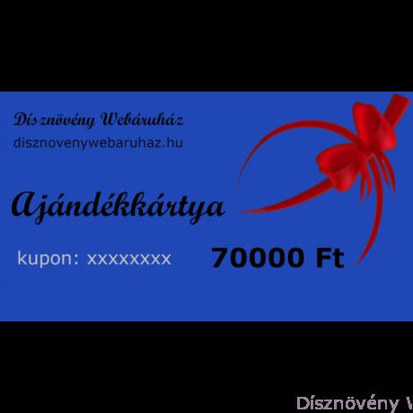 Zafír díszkerti ajándékkártya 70000 Ft értékben