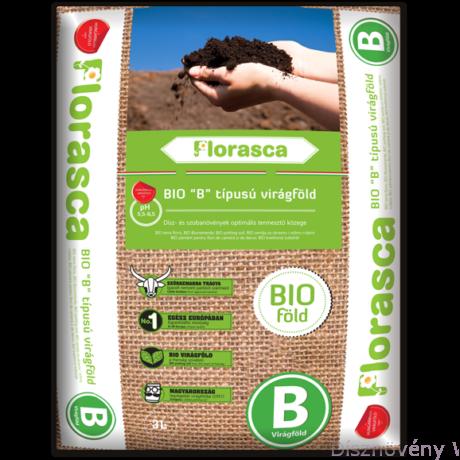 'B' típusú Florasca bio virágföld